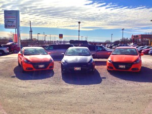 Three Dodge Darts located at Woodys Automotive Group